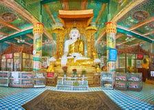 Intérieur de pagoda de sommet, Sagaing photo stock