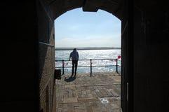 Intérieur de phare de pilier de Tynemouth Photos stock