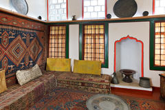 Intérieur de pièce avant de harem dans le palais de Khan Image libre de droits