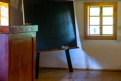 Intérieur de pièce d'école images libres de droits