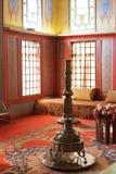 Intérieur de pièce dans le harem du palais de Khan, Crimée Photos libres de droits