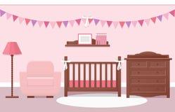 Intérieur de pièce de bébé Illustration de vecteur photo libre de droits