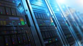 Intérieur de pièce de serveur dans le datacenter illustration stock