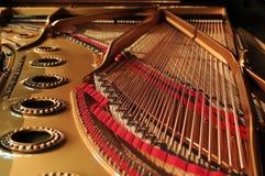 Intérieur de piano à queue Images libres de droits