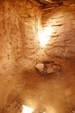 Intérieur de pueblo d'Anasazi Images libres de droits