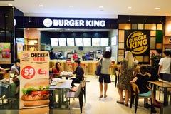Intérieur de restaurant de Burger King Photographie stock libre de droits