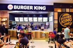 Intérieur de restaurant de Burger King Image libre de droits