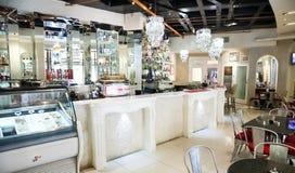Intérieur de restaurant haut de gamme de Bistros photo stock