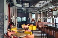 Intérieur de restaurant mexicain Photographie stock libre de droits