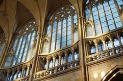 Intérieur de saint Vitus Cathedral à Prague Photographie stock
