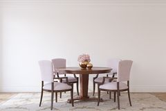 Intérieur de salle à manger dans le style néoclassique 3d rendent illustration de vecteur