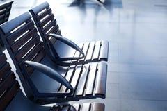 Intérieur de salle d'attente d'aéroport Image libre de droits