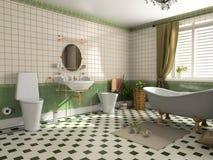 Intérieur de salle de bains illustration libre de droits