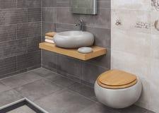 Intérieur de salle de bains moderne Photo stock