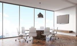 Intérieur de salle de conférence de jour ensoleillé illustration de vecteur