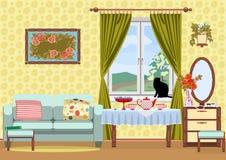 Intérieur de salle de séjour Image stock