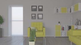 Intérieur de salle de séjour Photographie stock libre de droits
