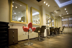 Intérieur de salon de beauté Image stock