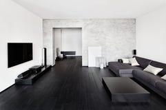 Intérieur de salon de minimalisme Photographie stock libre de droits