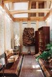 Intérieur de salon de vintage et meubles rustiques de vintage dans la Co Photos stock