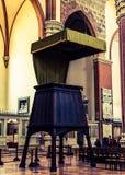 Intérieur de San Petronio Basilica, Bologna, Italie Photos stock