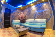 Intérieur de sauna image stock