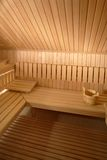 Intérieur de sauna Photos libres de droits