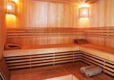 Intérieur de sauna photos stock