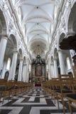Intérieur de St Walburga Church, Bruges, Belgique images libres de droits