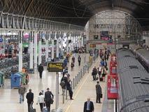 Intérieur de station de train Images libres de droits
