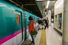 Intérieur de station de train de Tokyo Images libres de droits
