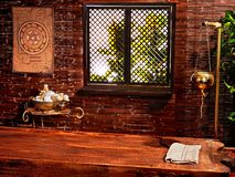 Station thermale indoue de massage d'ayurveda. photos stock