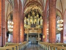 Intérieur de Storkyrkan avec l'organe principal, Stockholm, Suède images stock