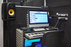 Intérieur de studio d'enregistrement sonore image libre de droits