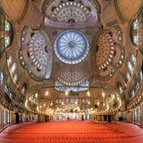 Intérieur de Sultan Ahmed Mosque à Istanbul, Turquie Image libre de droits