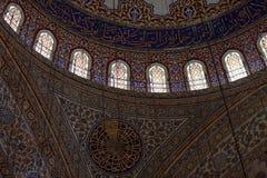 Intérieur de Sultan Ahmed Mosque photographie stock libre de droits