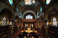 Intérieur de synagogue de rue d'Eldridge Photographie stock