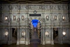 Intérieur de Teatro Olimpico à Vicence Photos libres de droits