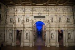 Intérieur de Teatro Olimpico, Vicence, Vénétie, Italie photos stock