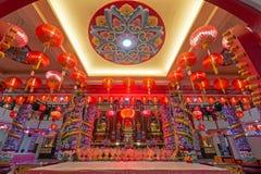 Int?rieur de temple de Puu Jih Shih en Sandakan Sabah Malaysia photo stock