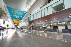 Intérieur de terminal moderne neuf à l'air de Lech Walesa Image libre de droits