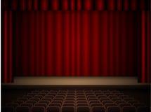 Intérieur de théâtre Photographie stock libre de droits