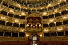 Intérieur de théâtre de Fenice de La Images stock