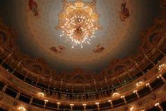 Intérieur de théâtre de Fenice de La, lustre photographie stock libre de droits