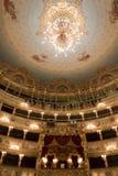 Intérieur de théâtre de Fenice de La, lustre image libre de droits