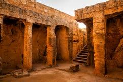 Intérieur de tombe antique Photo libre de droits