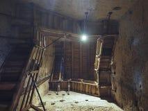 Intérieur de tour d'Asinelli à Bologna Image libre de droits