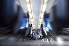 Intérieur de train Image stock