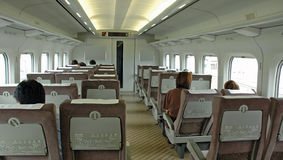 Intérieur de train Photographie stock