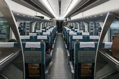 Intérieur de train d'aéroport international de centrair de Chubu Photos libres de droits
